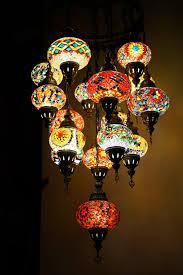 Turkish Chandelier 16 Mosaic Chandelier 1 The Pixie
