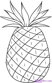 how to draw a pineapple step by step food pop culture free