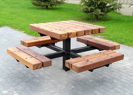 Plans For Outdoor Picnic Table by Unique Picnic Table Plans Outdoor Patio Tables Ideas
