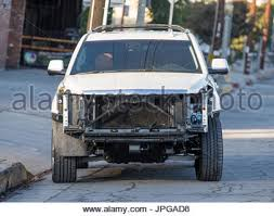cadillac escalade front end caitlyn jenner s cadillac escalade suv seen with damage to front