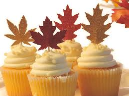 cheap autumn leaves thanksgiving cupcake toppers thanksgiving