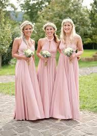 blush pink bridesmaid dresses infinity bridesmaid dress 2017 wedding ideas magazine weddings