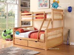 Tri Bunk Beds Uk Supersonic Pine Wood Bunk Bed In Oak With Drawers