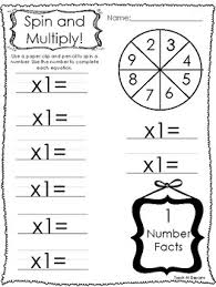 12 spin and multiply printable worksheets in pdf file 1st grade