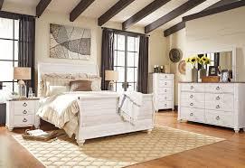 ashley furniture b267 willowton white queen king sleigh bed