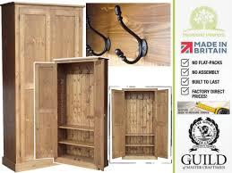 Hallway Shoe Storage Cabinet Solid Pine Or Oak 6ft Multi Purpose Coat Hallway Storage Cupboard