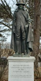 thanksgiving pilgrim statues governor william bradford writings in the