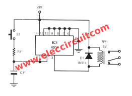 time delay for relay using cd4011 u2013 electronic projects circuits