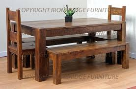 farm tables with benches farmhouse table with bench chatel co