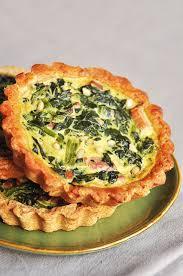 cuisine epinard tartelettes aux épinards lardons pignons et parmesan recette