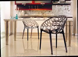 dossier de chaise élégant ronde en plastique arbre dossier chaise pour salle à manger
