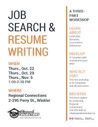 Job Resume Writing by Job Search U0026 Resume Writing Workshop U2013 Regional Connections