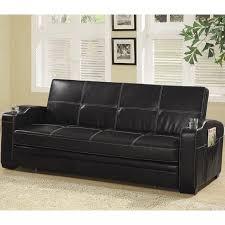 Faux Leather Sofa Sleeper Black Faux Leather Sofa Bed Coaster Furniture Furniturepick