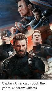 Captain America Meme - captain america through the years andrew gifford america meme on me me