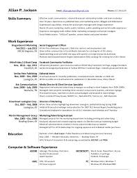 Marketing Major Resume Resume Jillian Jackson