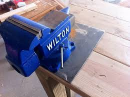 Install Bench Vise Proper Way To Mount A Vise The Garage Journal Board
