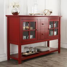 console table tv stand 52 wood console table tv stand in antique red walker edison w52c4ctrd