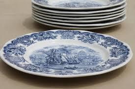 vintage blue u0026 white bristol ports of england 8 english