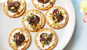 food canapes these pickled fig and ricotta canapés food republic
