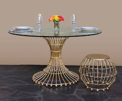 Dining Table Stands Gilded Cage Dining Table Base Fisher Weisman