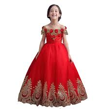 aliexpress com buy mdbridal red long gowns for kids off shoulder