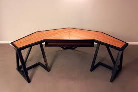 Oak Studio Desk by Modern Aviation Inspired Desk Work Table For Sound Design Studio