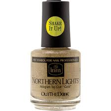 inm northern lights hologram top coat gold 5 oz the industry
