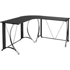 calico designs monterey l shaped desk chrome black glass