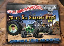 seattle monster truck show monster jam birthday invitations u2013 gangcraft net