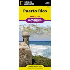 Map Puerto Rico Puerto Rico Adventure Map National Geographic Store