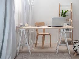 Office Desk Legs by Mocka Trestle Desk Available In Black White U0026 Natural