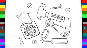 hardware tools coloring pages drawing and coloring pages for