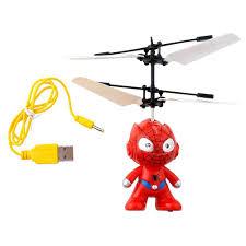 amazon com mini intelligent children flying rc ball spiderman