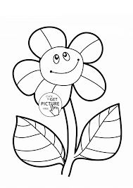 funny sunflower coloring page for kids flower coloring pages
