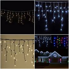 outdoor led icicle christmas lights purple led icicle christmas lights outdoor waterproof fairy falling