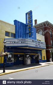 Small Canopy by Old Fashioned Small Town Movie Theater Fronted By Traditional