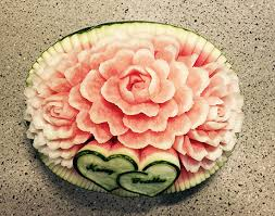 carved bridal watermelon for weddings nita s fruit veggy carving