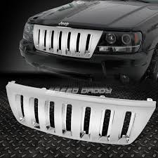 jeep front grill guard for 99 04 jeep grand cherokee wj abs plastic chrome front bumper