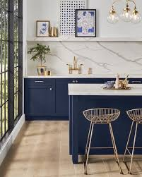 blue kitchen cabinets grey walls new sherwin williams survey says white gray walls are out