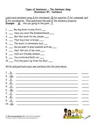 of sentences worksheet packet and lesson plan 8 pages plus