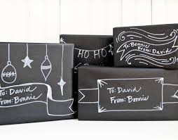 black wrapping paper tutorial christmas chalkboard gift wrap going home to roost