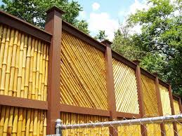 backyard fence designs and styles newest bamboo design scapes