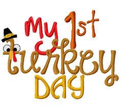 fall thanksgiving embroidery boy design my turkey day my