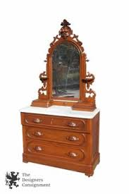 Marble Top Dresser Bedroom Set Antique Ornate Eastlake Dresser Solid Walnut Wood Marble Top