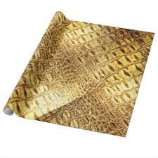 shiny wrapping paper designer alligator crocodile skin shiny gold brown wrapping paper