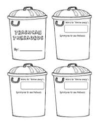 trash can thesaurus word choice student resource by mckayla beattie