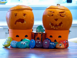 Fun And Easy Halloween Crafts by Easy Halloween Craft Cute Rock Monsters Navigating By Joy