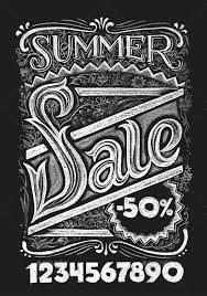 summer sale chalk lettering by polygraphus graphicriver