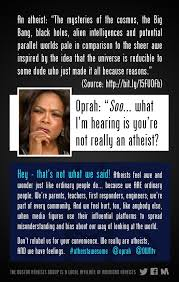 Anti Atheist Meme - boston atheists tell oprah to stop relabeling atheists friendly