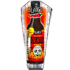 sriracha keychain blair u0027s ultra death sauce sauce with skull keychain in a